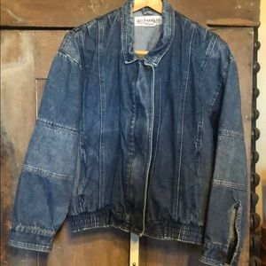 Vintage | zip front denim jacket